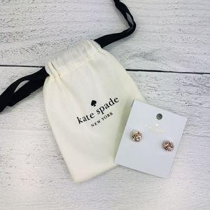 Kate Spade Lady Marmalade Clear Rose Gold Earrings